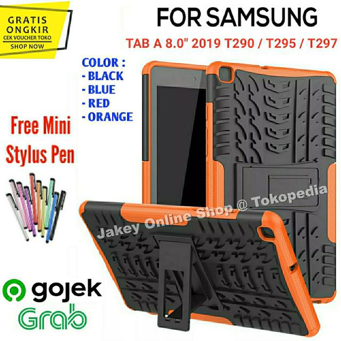 "Foto Produk Samsung Galaxy Tab A 8.0"" 2019 T290 T295 RUGGED ARMOR soft case casing - Hitam dari Jakey Online Shop"