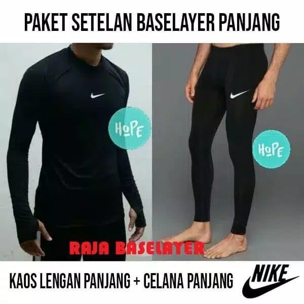 Jual Paket Hemat Stelan Manset Baselayer Celana Legging Panjang Futsal Kab Bekasi Tokokushopss Tokopedia