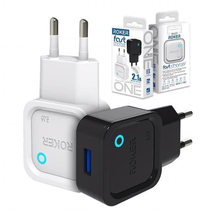 Foto Produk HEAD CHARGER ROKER ONE 2.1A FAST CHARGING BATOK CASAN USB LEDINDICATOR dari JoliStore