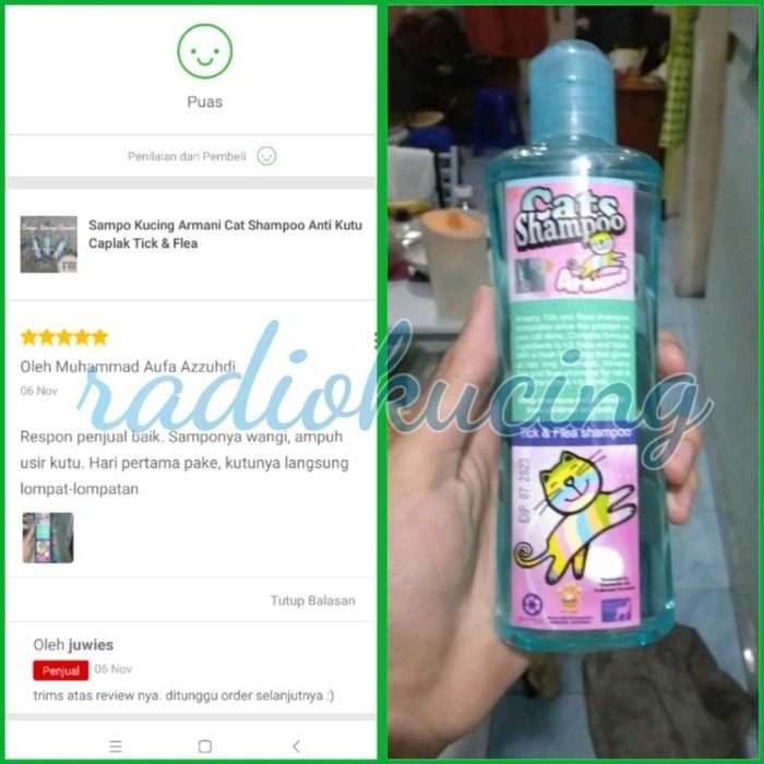 Jual Sampo Kucing Armani Cat Shampoo Anti Kutu Caplak Tick Flea Jakarta Barat Fujita Fast Tokopedia