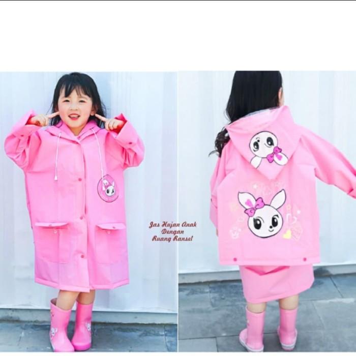 Foto Produk jas hujan anak pink lucu motif bunny dari baby&kids'shop