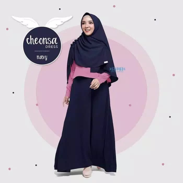Foto Produk Cheonsa dress baju gamis pakaian wanita fashion muslim dari zam collection