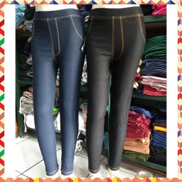 Jual Celana Legging Levis Panjang Lis Benang Kuning Bahan Denim Tebal Dan Jakarta Selatan Afiraramda 45 Tokopedia