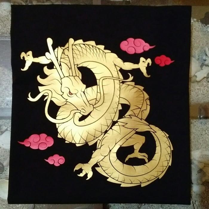 Jual Kaos Distro Baju Atasan Pria Wanita Chinese Dragon Gold Print Kota Bekasi Miw Clothing Tokopedia