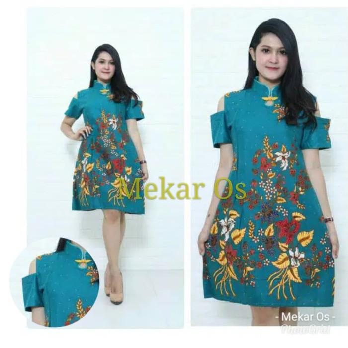 Foto Produk Dress Imlek Cheongsam Chinese Bunga - Tosca dari Mekar OS