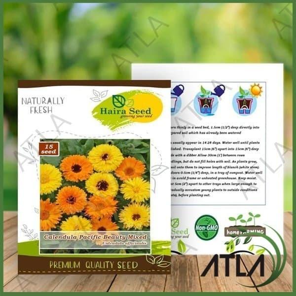 Jual Bibit Biji Tanaman Benih Bunga Calendula Pacific Beauty Mix Haira Seed Kota Surabaya Atla Surabaya Tokopedia