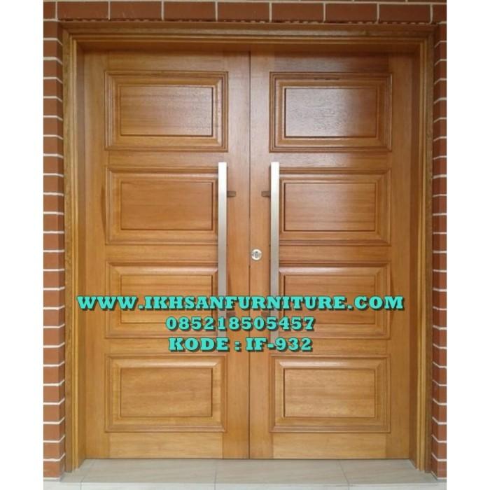 Jual Pintu Rumah Minimalis Modern Desain Pintu Rumah Minimalis Kayu Jati Kab Jepara Ikhsan Furniture Tokopedia