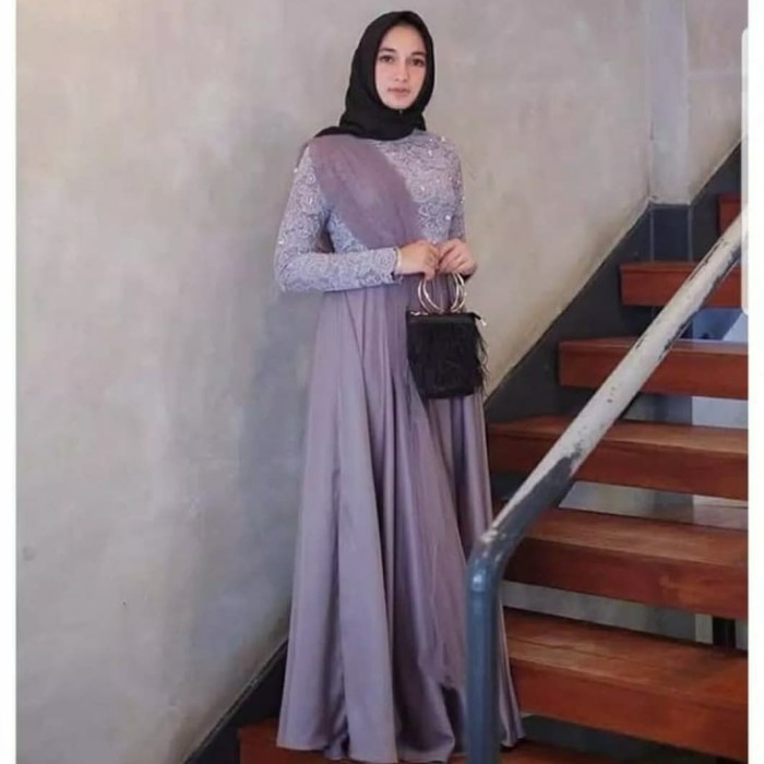 Jual Gamis Muslimah Terbaru Gamis Kombinasi Gamis Polos Velvet Kota Bandung Pesona Fashion Store Tokopedia