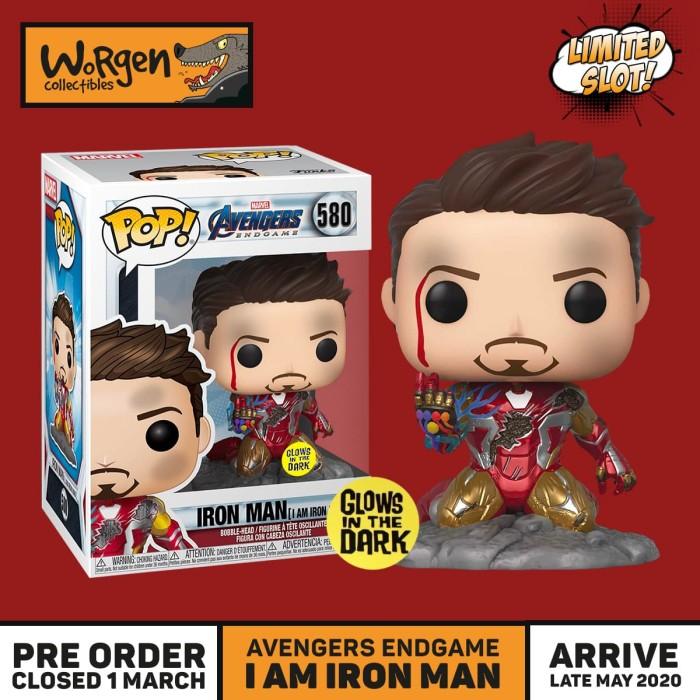 I Am Iron Man Glow-in-The-Dark Deluxe Vinyl Figure Pop Avengers ...
