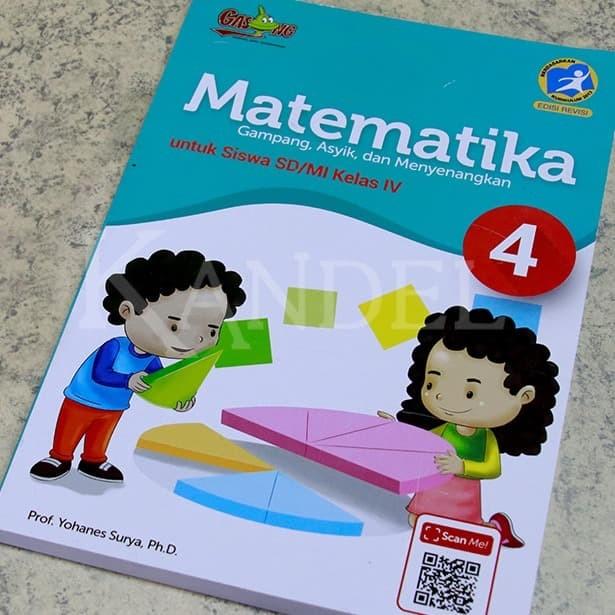Foto Produk Buku Matematika GASING SD 4 Kurikulum 2013 by Prof. Yohanes Surya Ph.D dari Gasingpedia
