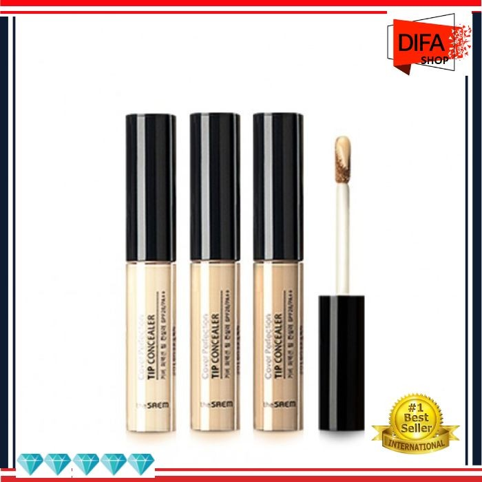 Foto Produk F44 The Saem Cover Perfection Tip Concealer dari Difa Grosir