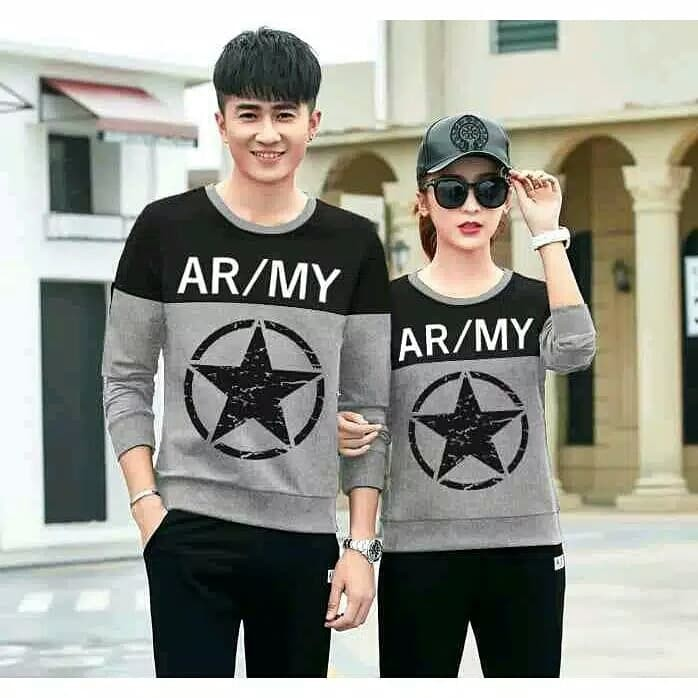 Foto Produk Sweater Couple Lp Army Black dari Wallsticker shop