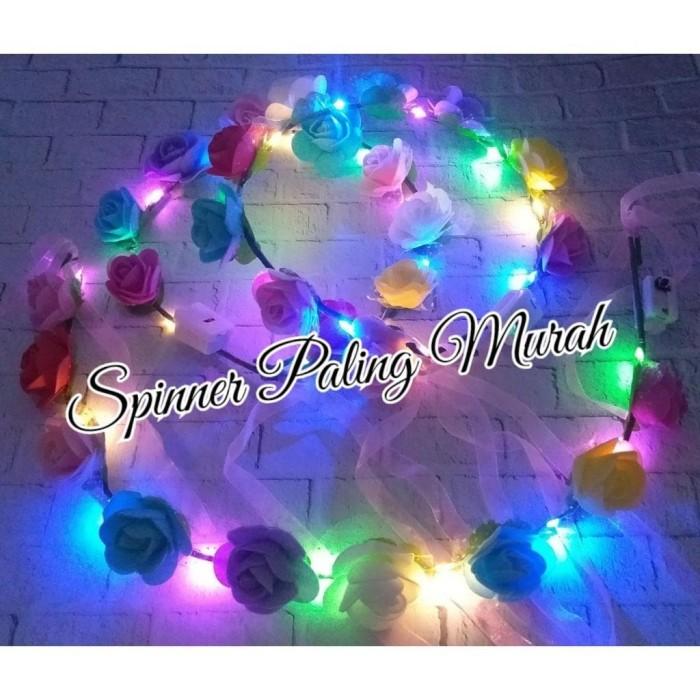 Foto Produk BDO09 LED Bando Bunga LED / Mahkota Bunga LED / FLOWER CROWN LED dari Spinner Paling Murah