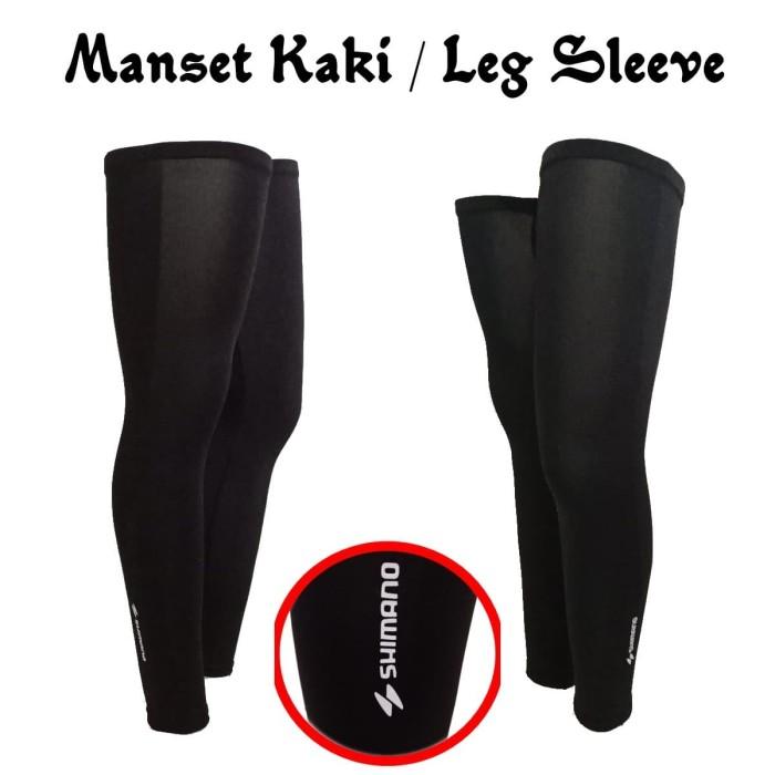 Foto Produk Manset Kaki sepeda Cycling Leg Warmer Leg Sleeve SH - M dari abaholot