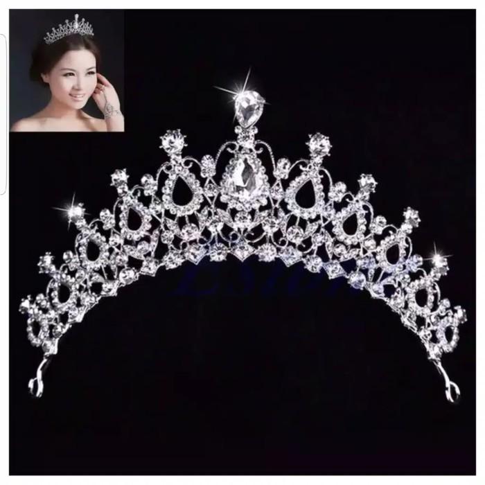 Foto Produk Mahkota Hiasan Rambut Tiara Crown Aksesoris Wedding Pesta Pengantin C5 dari Star Gallery