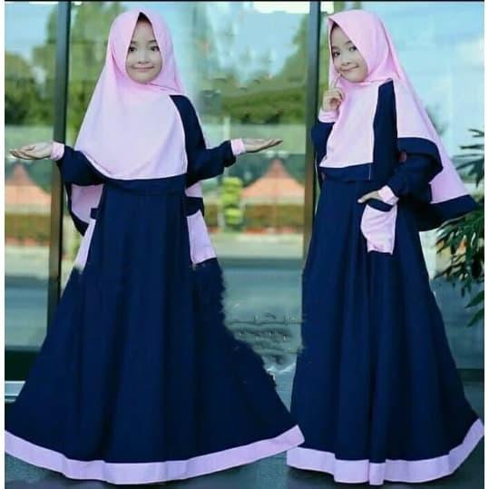 Foto Produk Baju Muslim Anak Perempuan Murah Gamis Anak Rumana Kids (8-11 tahun ) dari B.O.M baju online murah