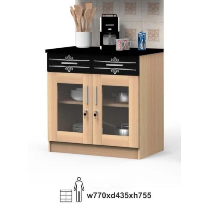 Kabinet Dapur Pintu Kaca | Desainrumahid.com