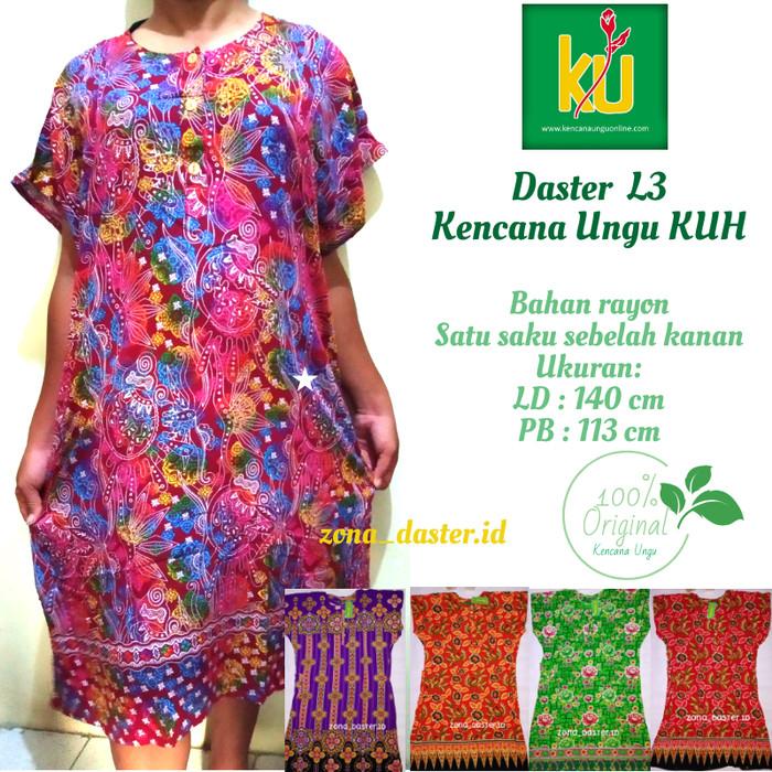 Foto Produk Daster Batik Kencana Ungu L3 Label Hijau dari zona_daster.id