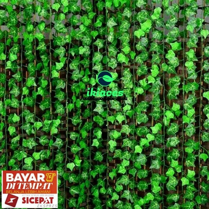 Foto Produk Daun Rambat Anggur Daun Palsu Daun Plastik Dekorasi Taman - 1 Meter dari ikiaces