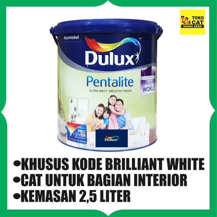 Jual Cat  Tembok  Dulux  Pentalite 2 5 Liter Warna  Brilliant