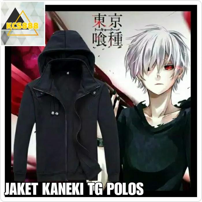 Jual Jaket Anime Kaneki Tokyo Ghoul Keren Bandung Polos Hot Item Kota Bandung Kencanashop Tokopedia
