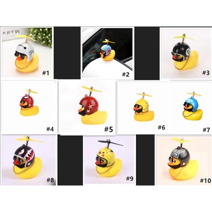 Foto Produk Mainan bebek kuning helm baling lampu LED untuk sepeda motor bebekgaya dari TOKO BEST ACC