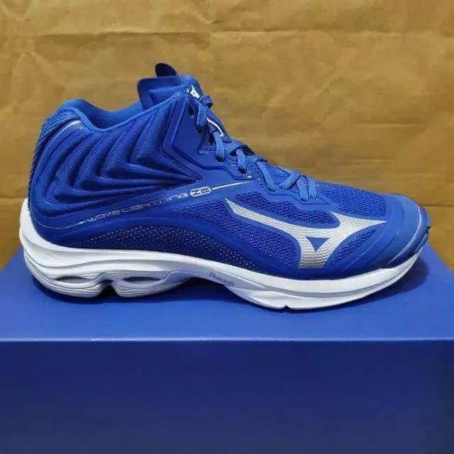 Jual Sepatu Voli Mizuno Wave Lightning Z6 Mid Blue Original New