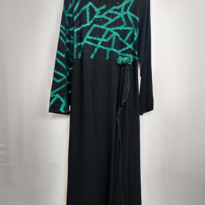 Jual Busana Muslim Abaya Hikmat Fashion Kode A 097 Turquoise Mewah Jakarta Pusat Berkah Mu Tokopedia
