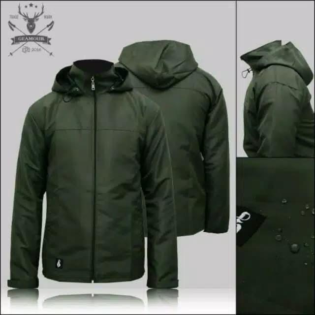 Foto Produk jaket taslan waterproof termurah - Hijau, L dari SZ Distro