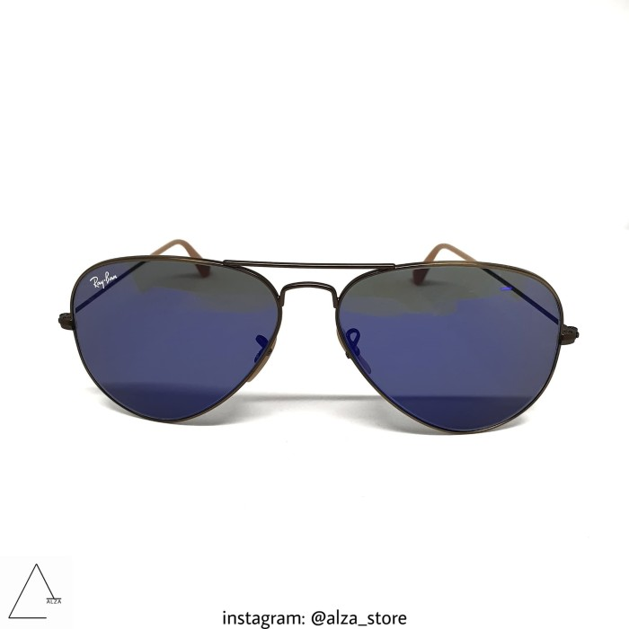 Jual Kacamata Ray Ban Aviator With Polarized Blue Grey Gradient