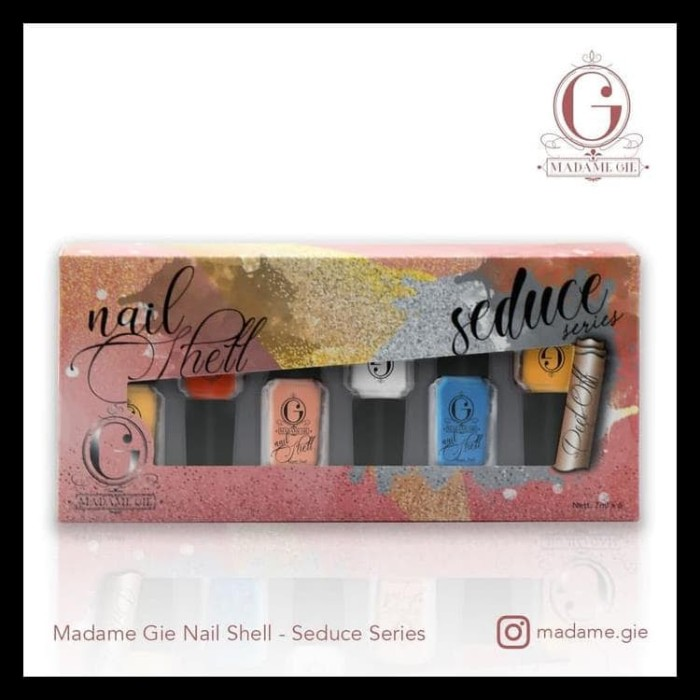 Foto Produk Madame Gie Nail Shell Peel Off 1 Set (Isi 6 Botol) - Natural dari heenaa