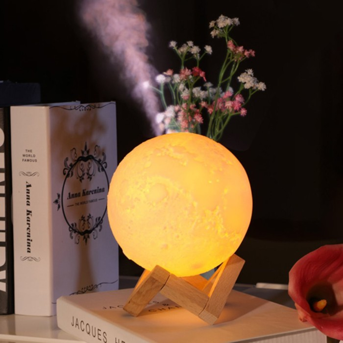 Jual Promo 880ml Moon Lamp Light Air Humidifier Diffuser Aroma Night Cool Kota Bandung Vnessaofficial Tokopedia
