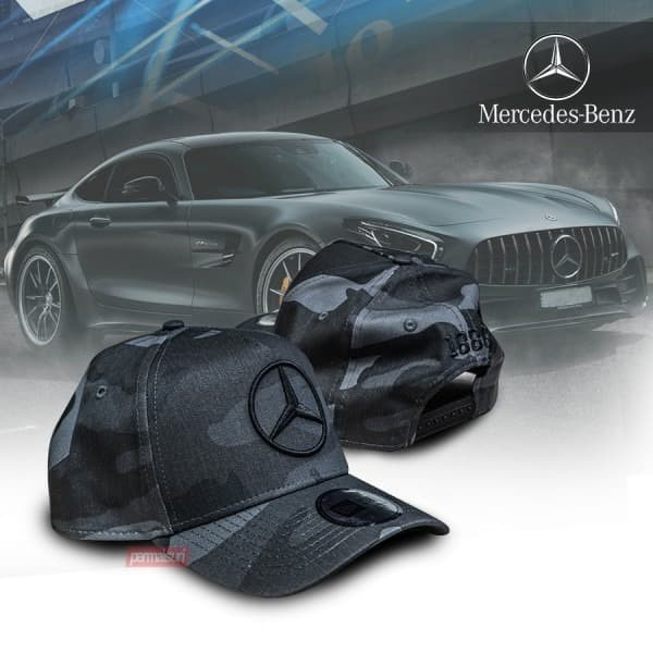 Foto Produk Mercedes Benz New Era Camo Black Cap Original| Topi AMG Original dari PERMAISURI