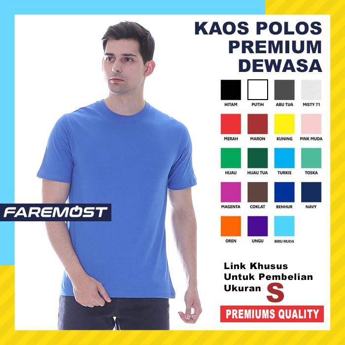 Foto Produk faremost-Kaos Polos Pria Unisex Lengan pendek cotton 30s Ukuran (S) - S dari faremost clothing