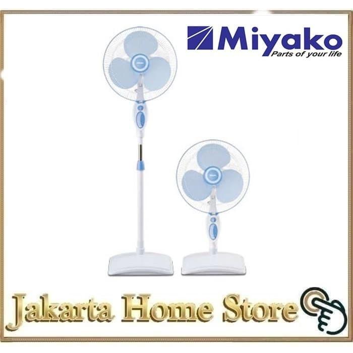 Foto Produk Kipas Angin Berdiri Miyako KAS-1618B Stand Fan dari Jakarta Home Store