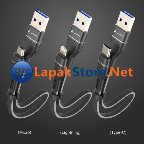 Foto Produk Snap Cable High Speed Fast Charging with Smart Chip Lapakstore - Hitam dari Lapakstore[dot]net