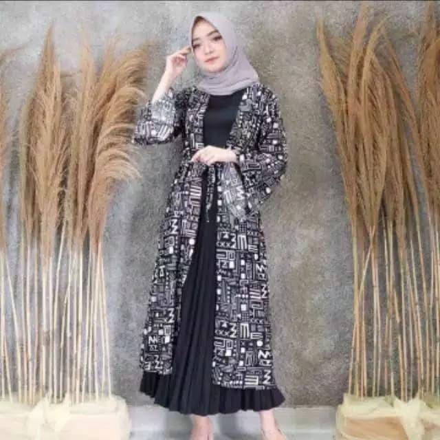 Foto Produk clareta outer - Hitam dari hijab murah Kalimantan