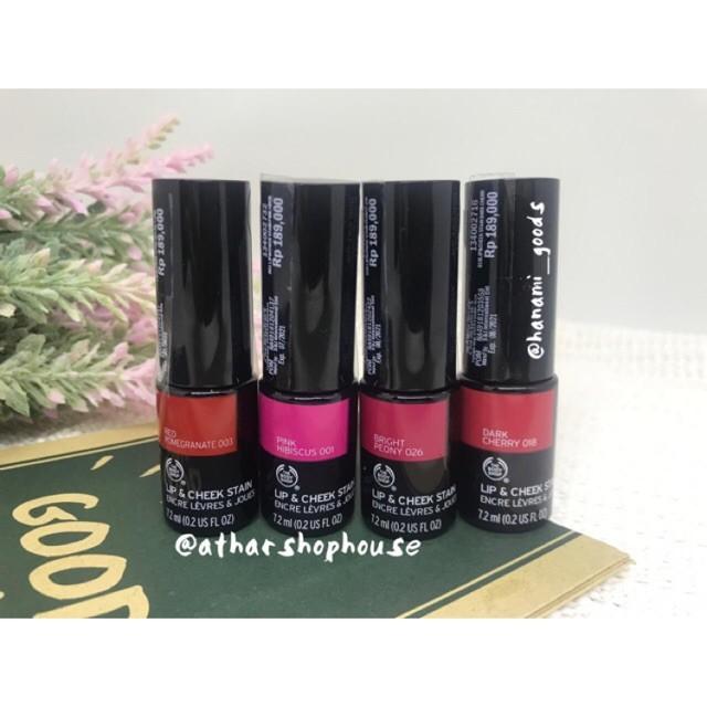 Foto Produk Lip Tint Lip & Cheek Stain The Body Shop: Bright Peony/Dark Cherry/Red dari Jijah Stores