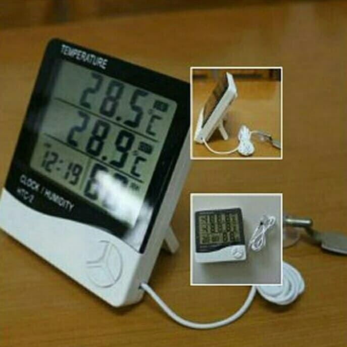 Foto Produk thermometer digital hygrometer HTC 2 alat pengukur suhu ruangan dari sinar global herbal