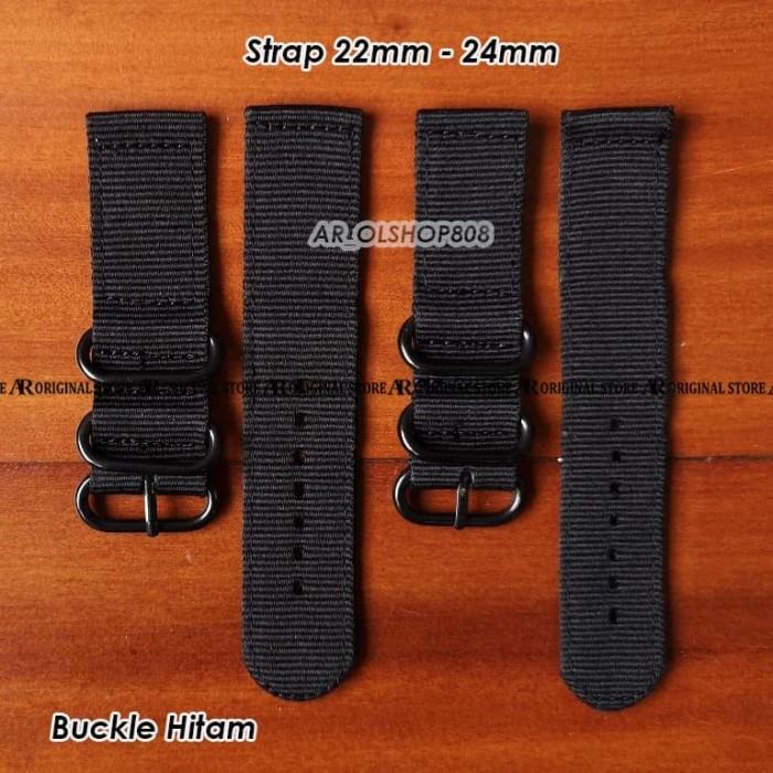 Foto Produk Tali Jam SEIKO Kanvas 22mm Strap NATO Strap Swiss Army ZULU 22mm 24mm dari ar_olshop808