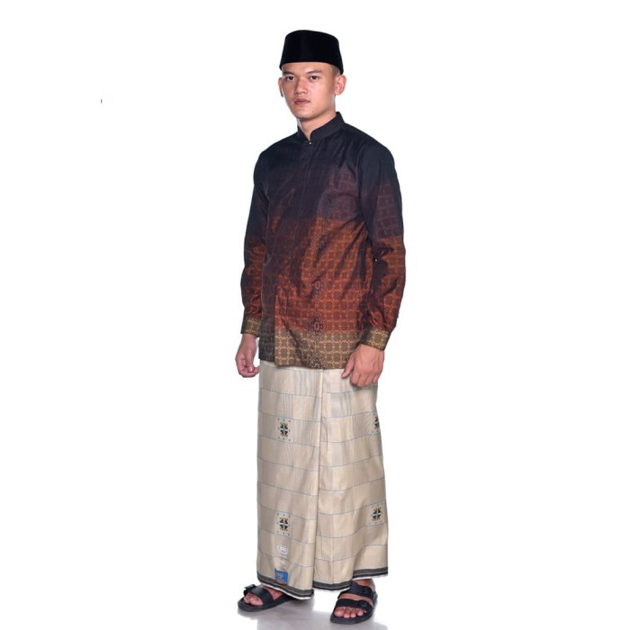 Foto Produk Sarung BHS Gold Classic motif SKT DAM Putih Tulang dari Sarung BHS Official