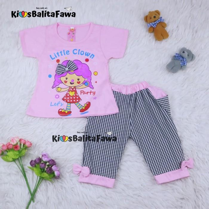 Foto Produk Setelan Lisa uk 1-6 Tahun / Baju Anak Perempuan Kaos Lengan Pendek - 1-3 tahun, Pink Fanta dari Kios Balita Fawa
