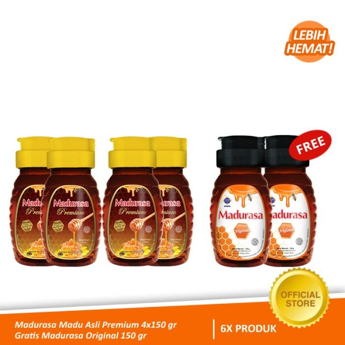 Foto Produk Madurasa Madu Asli Premium 4x150 gr - Gratis Madurasa Original 2x150 g dari Air Mancur Official Shop