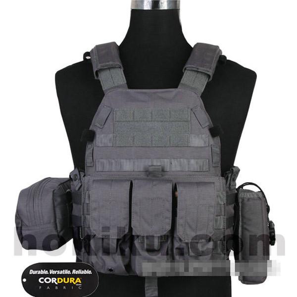 Foto Produk Rompi Tactical Vest Emerson LBT6094 MOLLE INCLUDE POUCH ORIGINAL - WOLF GREY dari Hokikucom