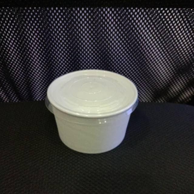 Foto Produk Paper bowl 360ml+tutup (50pcs) dari Amanamart