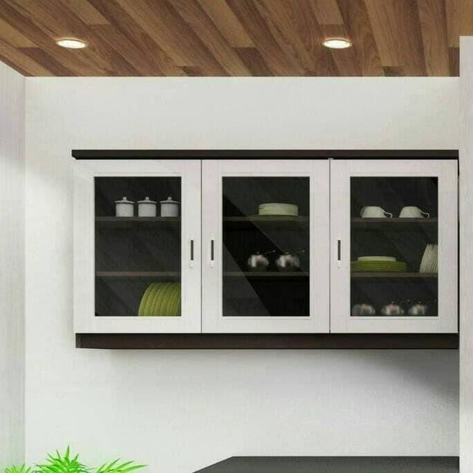 Jual Rak Gantung Minimalis Kitchen Set Atas 3 Pintu Kaca Polos Uk 120 Jakarta Selatan Syambahtiar Tokopedia