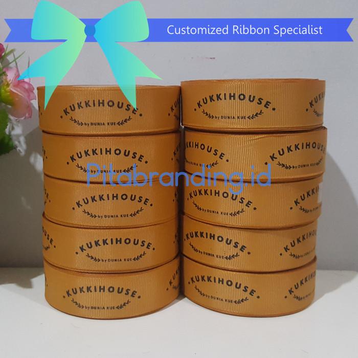 Foto Produk Pita branding grosgrain 2,5 cm / pita sablon / pita promosi dari pitabrandingID