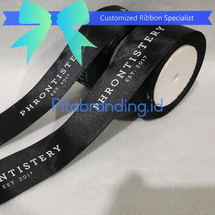 Foto Produk Pita branding satin 3,8 cm / pita sablon / pita restaurant dari pitabrandingID
