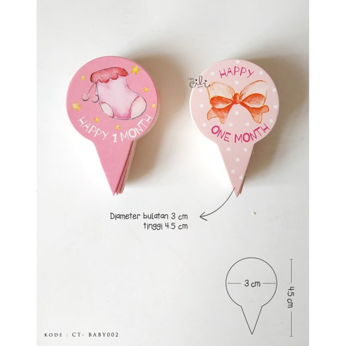 Foto Produk (TOPER PINK-baby02) untuk baby girl one month iamcili [design mix] dari i am CiLi