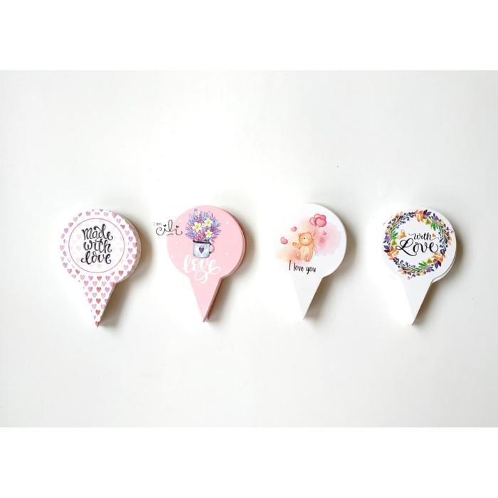 Foto Produk (TOPER love01) cake topper iamcili love cinta valentine [design mix] dari i am CiLi